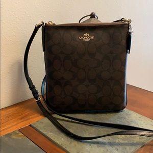 Coach Crossbody bag - brown and black signature